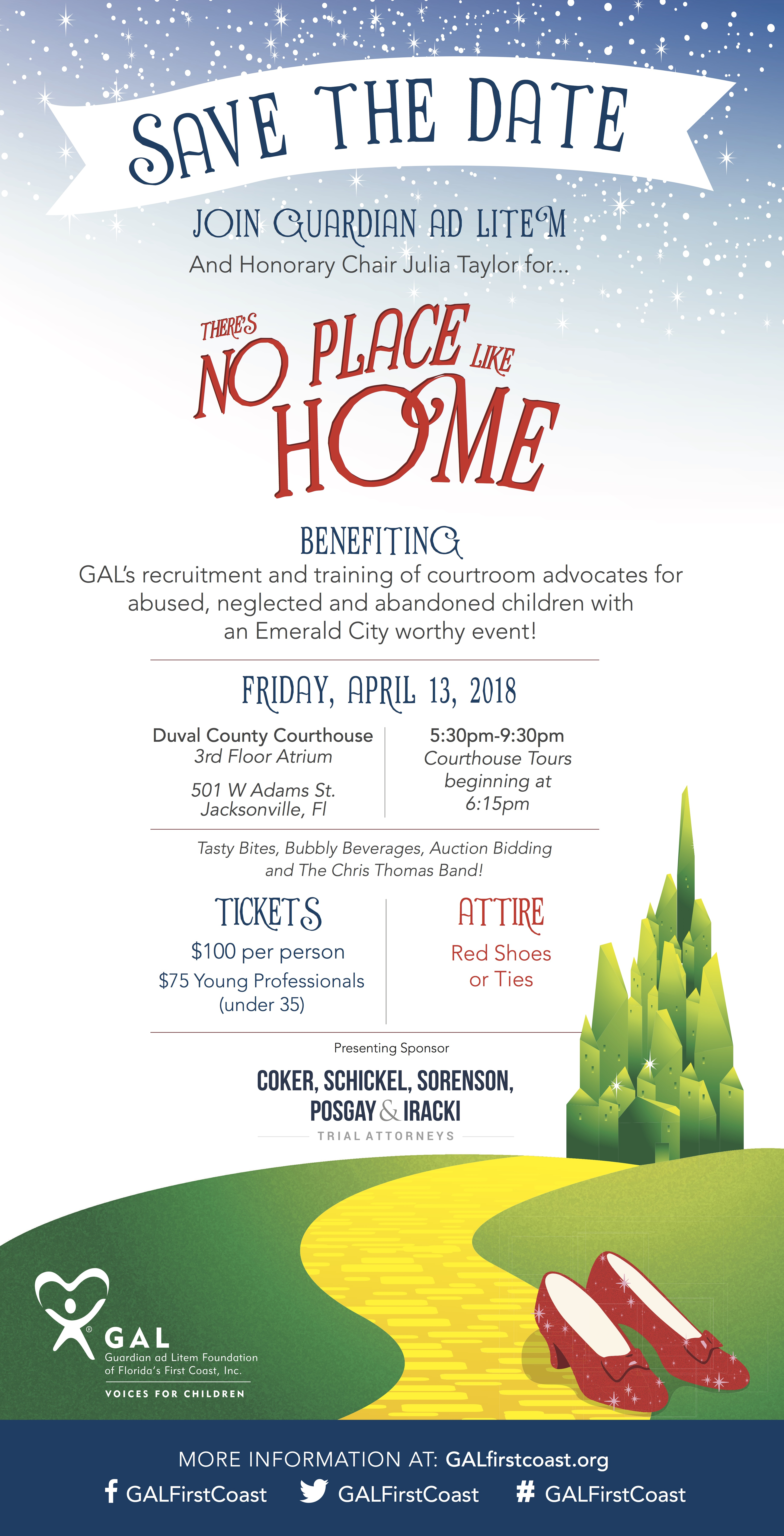 Guardian ad Litem | There's No Place Like Home | Save the Date | Tickets Soon